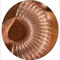 山实厂家机械通风耐磨PU钢丝软管 镀铜钢丝螺旋管
