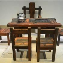 老船木戶外功夫茶桌椅船木家具茶幾茶臺