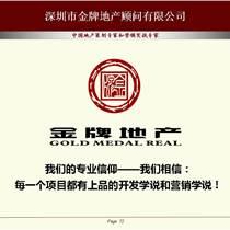 中國地產綜合體策劃與概念規劃專家深圳金牌房地產顧問公