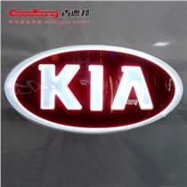 KIA透光電鍍吸塑車標三維電鍍貼膜車標廠家直銷
