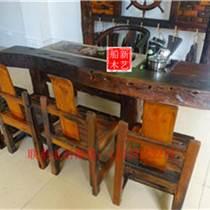 船木餐桌圆形餐桌别墅餐桌