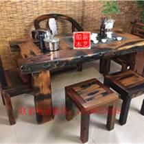 老船木餐桌圓形餐桌食堂大餐臺船木辦公桌客廳茶幾