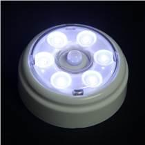 圓形薄款LED紅外線人體感應碟影燈 LED感應抽屜燈