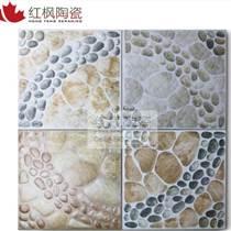 红枫陶瓷鹅卵石小地砖防滑耐磨