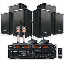 獅樂BX105會議室音響套裝 壁掛音箱功放 音響系統