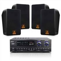 会议音响套装2011B/BG-6店铺背景音乐音箱系统
