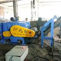 追求創新獨占鰲頭福建平行喂料運行安全塑鋼帶鐵粉碎機