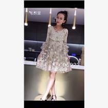 长袖连衣裙|品牌折扣女装|秋冬库存服装批发