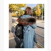 大毛領羽絨服|高檔庫存服裝|專柜精品女裝批發