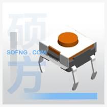 轻触开关立式4.54.5 四脚铜脚插件按键环保耐温