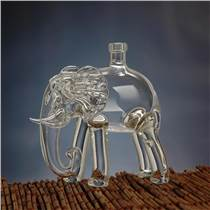 供應高硼硅玻璃工藝大象型白酒瓶 紅酒瓶廠家