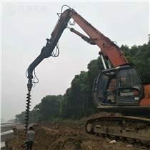 三一挖掘机上装螺旋钻BZ8000挖坑钻快速钻孔机