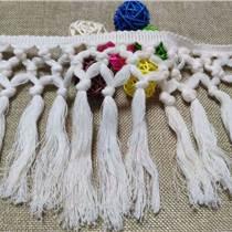 供應手工打結棉線排須花邊 圍巾窗簾掃把吊穗花邊