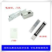 安裝門禁系統磁力鎖刷卡密碼玻璃門電插鎖雙門門禁安裝
