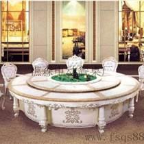 新款電動餐桌椅 手動餐廳大圓桌 實木電動餐桌樵森生產