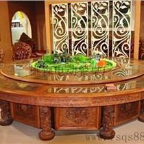 紅木電動餐桌椅 酒店高檔電動餐桌佛山樵森供應