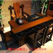 老船木沙發原木實木客廳萬字沙發原生態茶桌新款餐桌