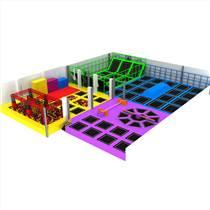 大型室内商场蹦床公园游乐设备淘气堡定制组合超级蹦床儿