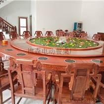 新款回旋帶電動餐桌 雕花電動餐桌 實木餐桌佛山廠家供