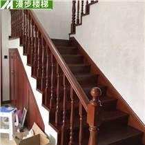 漫步室內雕刻實木樓梯