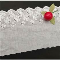 廠家供應棉布花邊/窗簾裝飾棉布刺繡花邊