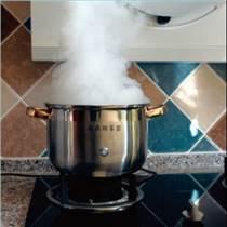 煙機演示集成灶測試--凌鼎煙霧鍋