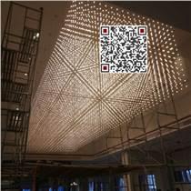 酒店大堂大型光立方吊燈 找銘星 專業大型非標工程定制