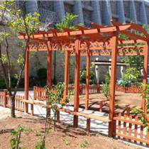 大连塑木廊架|大连塑木花架定制|大连塑木廊架安装