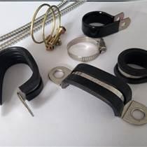 福萊通供應金屬包膠軟管夾 SKM波紋管緊固夾 雙管固