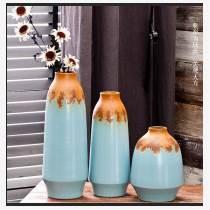 欧式陶瓷落地高大花瓶简约花盆搭配釉窑变客厅干花插花装