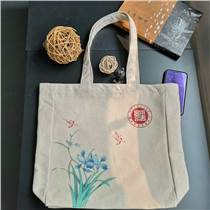 織耕堂帆布袋廠家專業定做彩印贈禮手提袋定制教育培訓廣