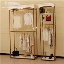 女裝店展示架,展示柜,不銹鋼鍍金中島高柜,廠家直銷支