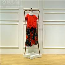 不銹鋼落地式服裝側掛架 婚紗掛衣架服裝中島架 女裝玫