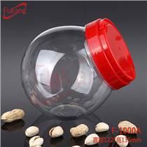 1000ML PET透明斜圓塑料瓶 玩具 糖果包裝罐