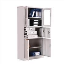 洛陽友時鋼制偏三斗內保資料柜帶抽屜加鎖憑證柜
