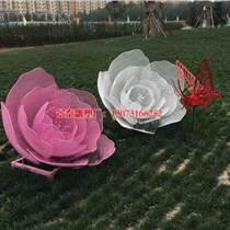 不銹鋼荷花雕塑編織網制作-蝴蝶雕塑