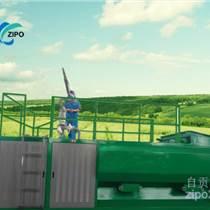 自貢自泵種草機高速路綠化客土噴播機液壓播種機