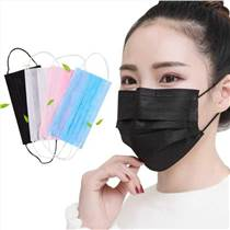 三層粉塵無紡布防油煙口罩廚房專用一次性過濾棉口罩