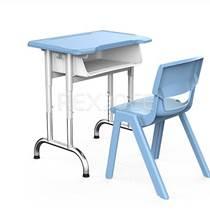學生課桌椅批發 睿學卓藝單人環保塑鋼課桌椅