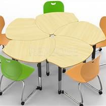 單人課桌椅批發 環保塑料課桌椅學校培訓班家用課桌椅