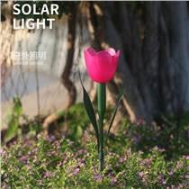 太陽能042草坪燈郁金香花燈花園庭院裝飾景觀燈戶外L