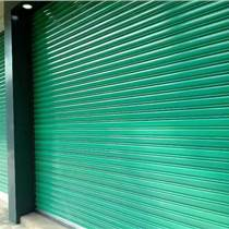 工廠卷簾門 倉庫綠色彩鋼卷簾門定制 彩鋼電動卷簾門