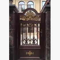 别墅大门铝合金农村院子电动门中式庭院门家用平移双开门