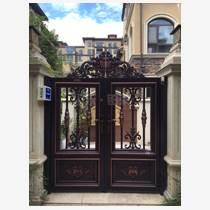 铝艺大门中式别墅庭院小门进户门双开对开自动大门乡村大