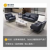 鄭州辦公家具 沙發茶幾組合 辦公室皮沙發9