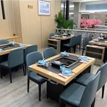 天津烤肉桌定制 烤肉桌烤涮一體桌定做 無煙烤肉桌廠家