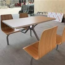 天津學生員工食堂餐桌椅4人快餐桌戶外可口可樂休閑連體