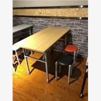 天津不銹鋼工地連體快餐桌椅組合 工地桌椅 連體桌椅