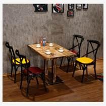 天津定制快餐店桌椅  卡座沙發桌子組合