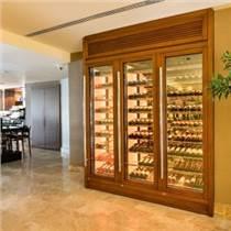 現代歐式不銹鋼恒溫酒柜定制餐廳酒吧別墅一體靠墻展示柜
